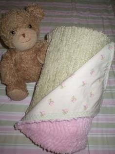Chenille Backed Blanket Tutorial