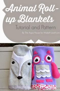 DIY Animal Roll-Up Blankets