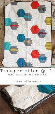 Transportation Quilt || Free Patte