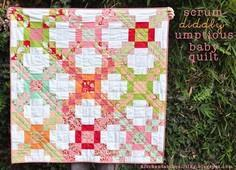 Scrum-diddly-umptious Baby Quilt