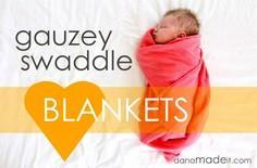 TUTORIAL: gauzey swaddle blankets