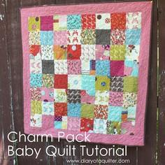 CHARM-PACK BABY QUILT TUTORIAL