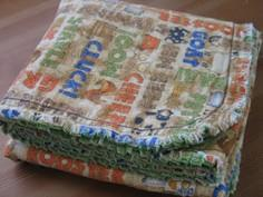 Rag Edge Receiving Blanket Tutoria