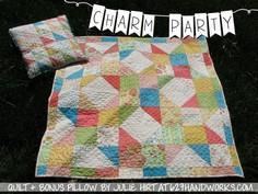 Charm Party Baby Quilt + Bonus Pil