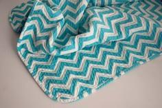 Sewing: Chevron Chenille Baby Blan