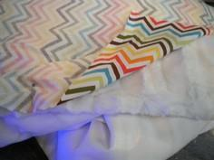 DIY Chevron Baby Blanket