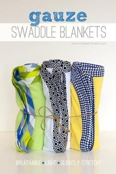 DIY Gauze Swaddle Blankets for Bab