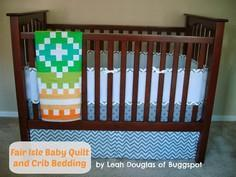 Fair Isle Baby Quilt and Crib Bed