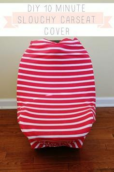 10 minute DIY Slouchy Car Seat Cov
