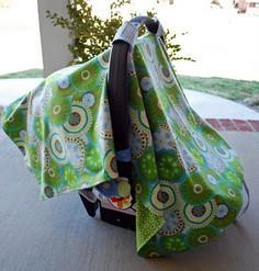 Infant Car Seat Cover Tutorial