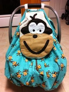 Fun Infant Car Seat Cover- with po