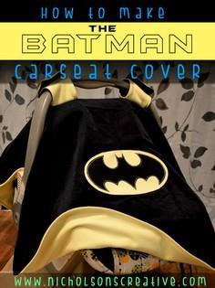 Reversible BATMAN Carseat Canopy C