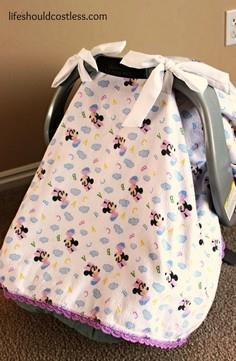 Quick Carseat Canopy Tutorial
