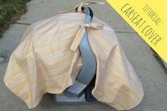 summer-time carseat cover tutorial