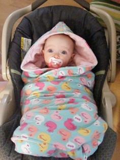 {Tutorial} Hooded Car Seat Blankie
