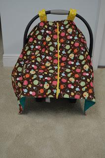 Zippered Car seat Canopy Tutorial