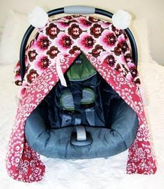 car seat canopy with peek-a-boo
