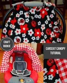 Craft Rookie: Carseat Cover Tutorial