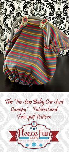 No Sew Baby Car Seat Canopy tent