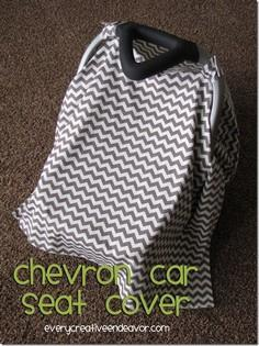 Chevron Car Seat Cover {Tutorial}