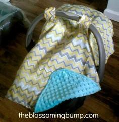 Easy Peasy DIY Car Seat Canopy Tut