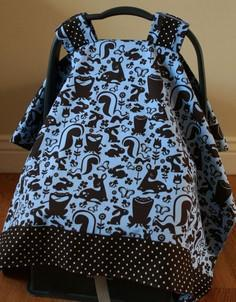 Baby car seat cover - Tutorial: