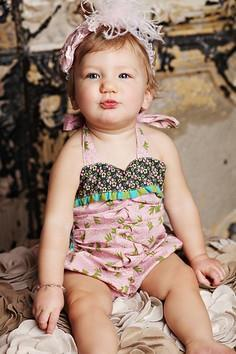 Sewing Remix: Flapper Baby Romper