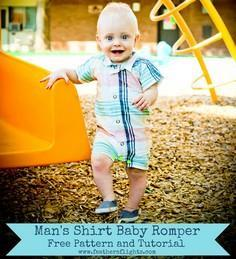 Man's Shirt Baby Romper Pattern an