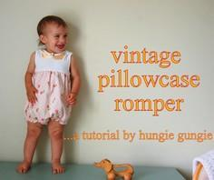 Vintage Pillowcase Romper Tutorial