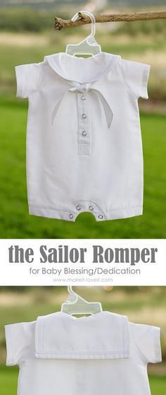 DIY Baby Boy Sailor Romper