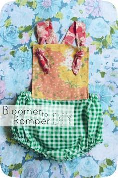 Bloomer to Romper DIY