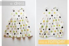 Turn a Baby Dress into a Bubble Ro