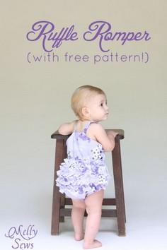 Adorable ruffled bottom romper tut