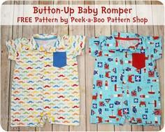Button-Up Baby Romper FREE Pattern