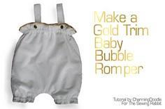 Gold Trimmed Baby Romper DIY - a f