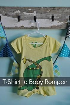 Women's T-Shirt to Baby Romper