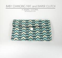 Baby Changing Mat and Diaper Clutc
