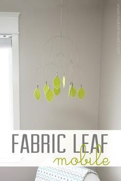 Fabric Leaf Hanging Mobile