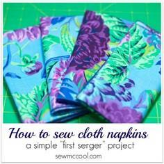 How to sew cloth napkins. This is