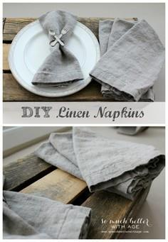 How To Make Your Own Linen Napkins
