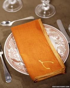 Custom Holiday Napkins Tutorial