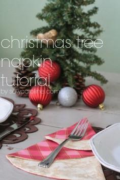Christmas Tree Napkin Tutorial