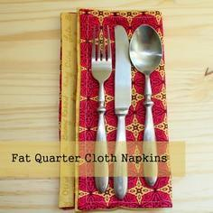 Fat Quarter Cloth Napkin Tutorial