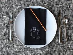 Stitched Ghost Napkin