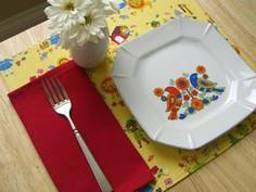 DIY Placemats and Napkins for Kids