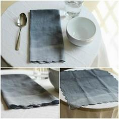 DIY Ombre Napkins: Great Upcycle