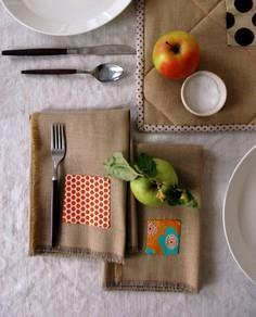 Fringed Thanksgiving Napkins