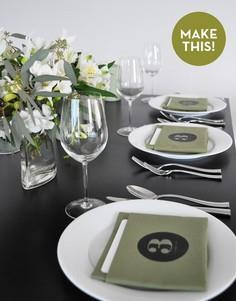 Make It: DIY Table Number Napkins