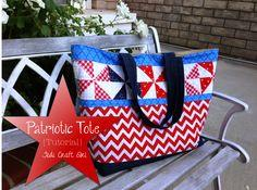 Fusible Fleece Patriotic Tote Bag Tutorial