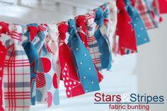 Scrappy Fabric Bunting